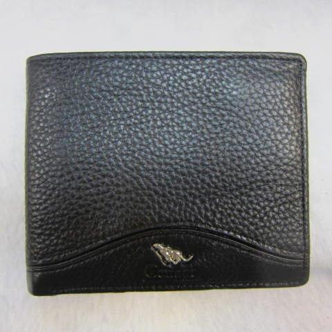 ~雪黛屋~Cougar 美國專櫃 男用短型皮夾 進口牛皮 標準尺寸 CG6501 黑