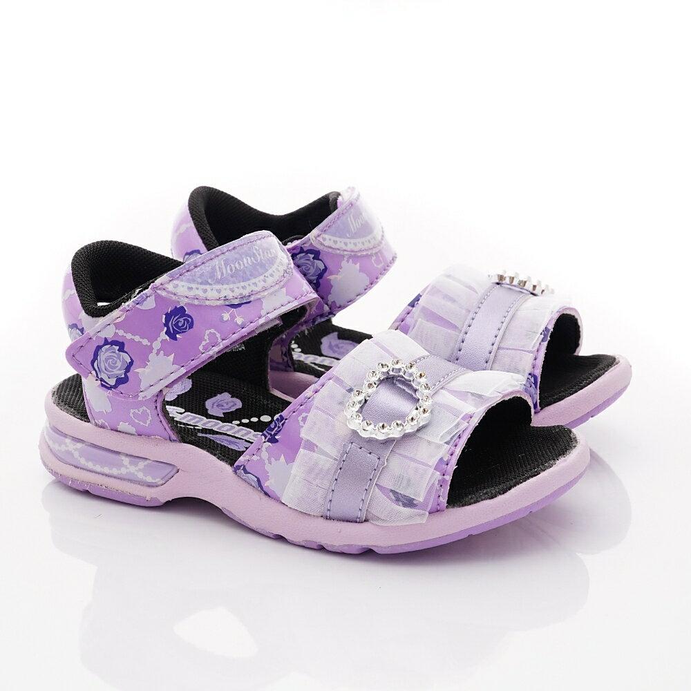 日本月星Moonstar機能童鞋涼鞋系列公主涼鞋款5147紫(中小童段) 618購物節