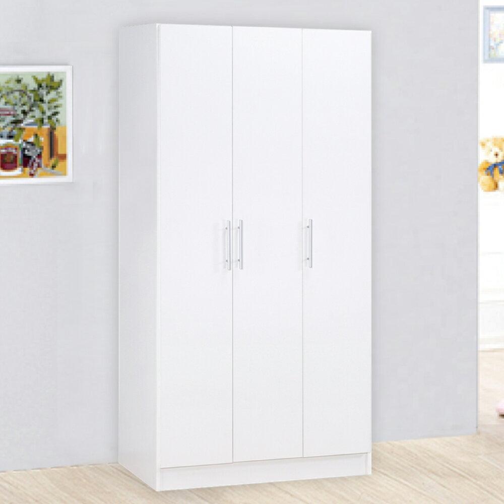 《HOPMA》衣櫥/收納櫃/衣物收納/DIY 簡約三門衣櫃 A-384D