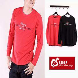 CS衣舖 質感萊卡 彈性布料 長袖T恤 3015