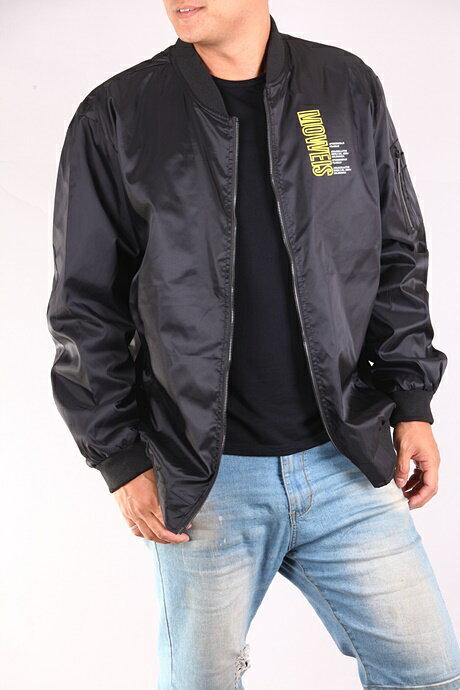 CS衣舖 加大尺碼 型男 防風 MA-1 飛行夾克 軍裝外套 兩色 88017 1