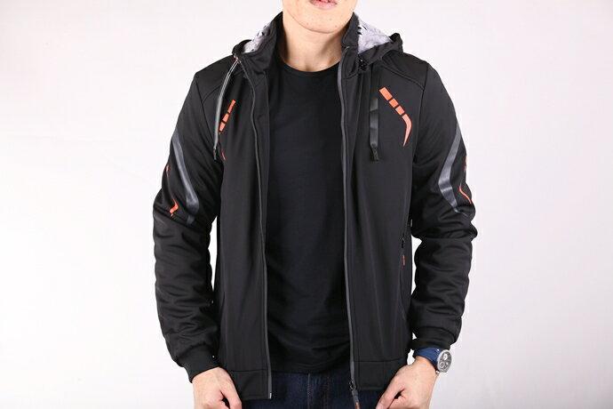 CS衣舖 個性騎士 厚刷絨防風保暖 外套夾克 8E08 1