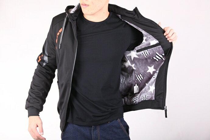 CS衣舖 個性騎士 厚刷絨防風保暖 外套夾克 8E08 3