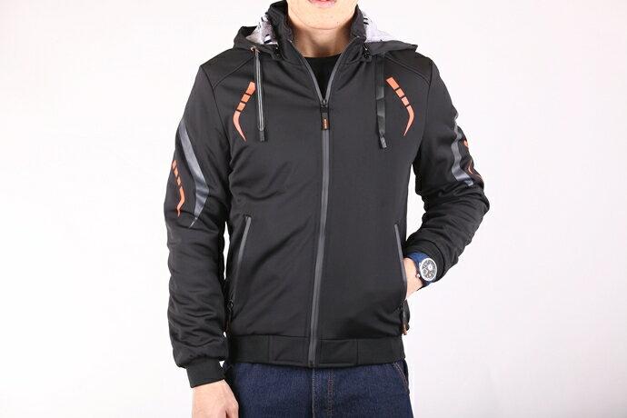 CS衣舖 個性騎士 厚刷絨防風保暖 外套夾克 8E08 4