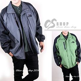 【【CS衣舖 】6122】3-4L大尺碼 薄款 高機能防風外套 兩色