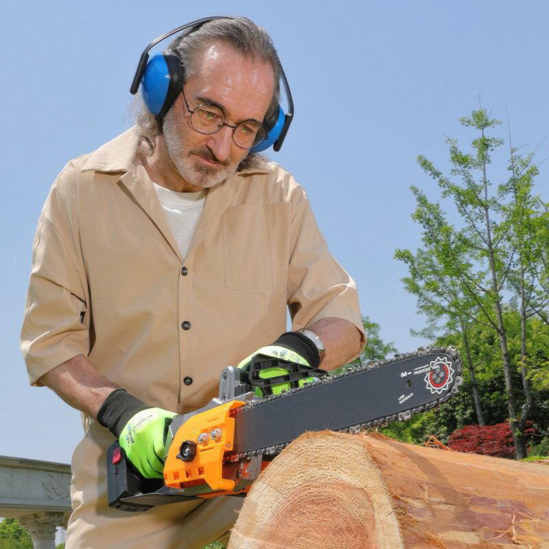 新店五折 電鏈鋸 充電式 無線鋰電 砂輪機 軍刀鋸  鏈鋸 電鋸 大功率電鋸伐木鋸小型戶外切割鋸木工多功能充電式