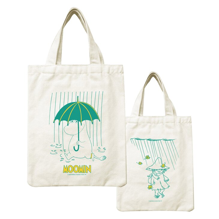 Moomin嚕嚕米正版授權 - 帆布包:【 雨中散步 】