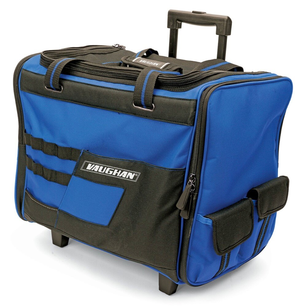 Vaughan 18 Inch Wide Mouth Rolling Tool Bag W Telescoping Handle Wheels 050024