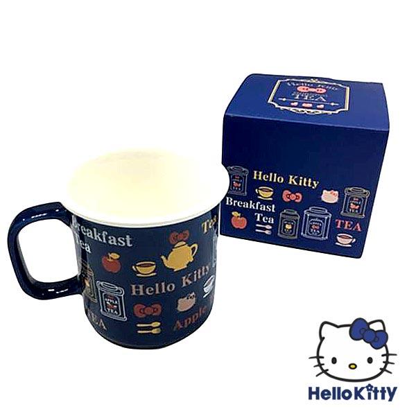 Hello Kitty Vivitix 陶瓷馬克杯 午茶藍 凱蒂貓 KITTY 馬克杯 水杯 茶杯 杯子  4719585005985 真愛日本