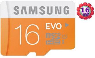 SAMSUNG 16GB 16G microSDHC【EVO 48MB/s】micro SD SDHC microSD UHS-I UHS U1 C10 原廠包裝 手機記憶卡 記憶卡