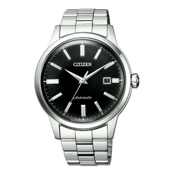 大高雄鐘錶城 CITIZEN 星辰 NK0000-95E Mechanical 簡約俐落/ 時尚質感機械腕錶 / 黑面 41mm