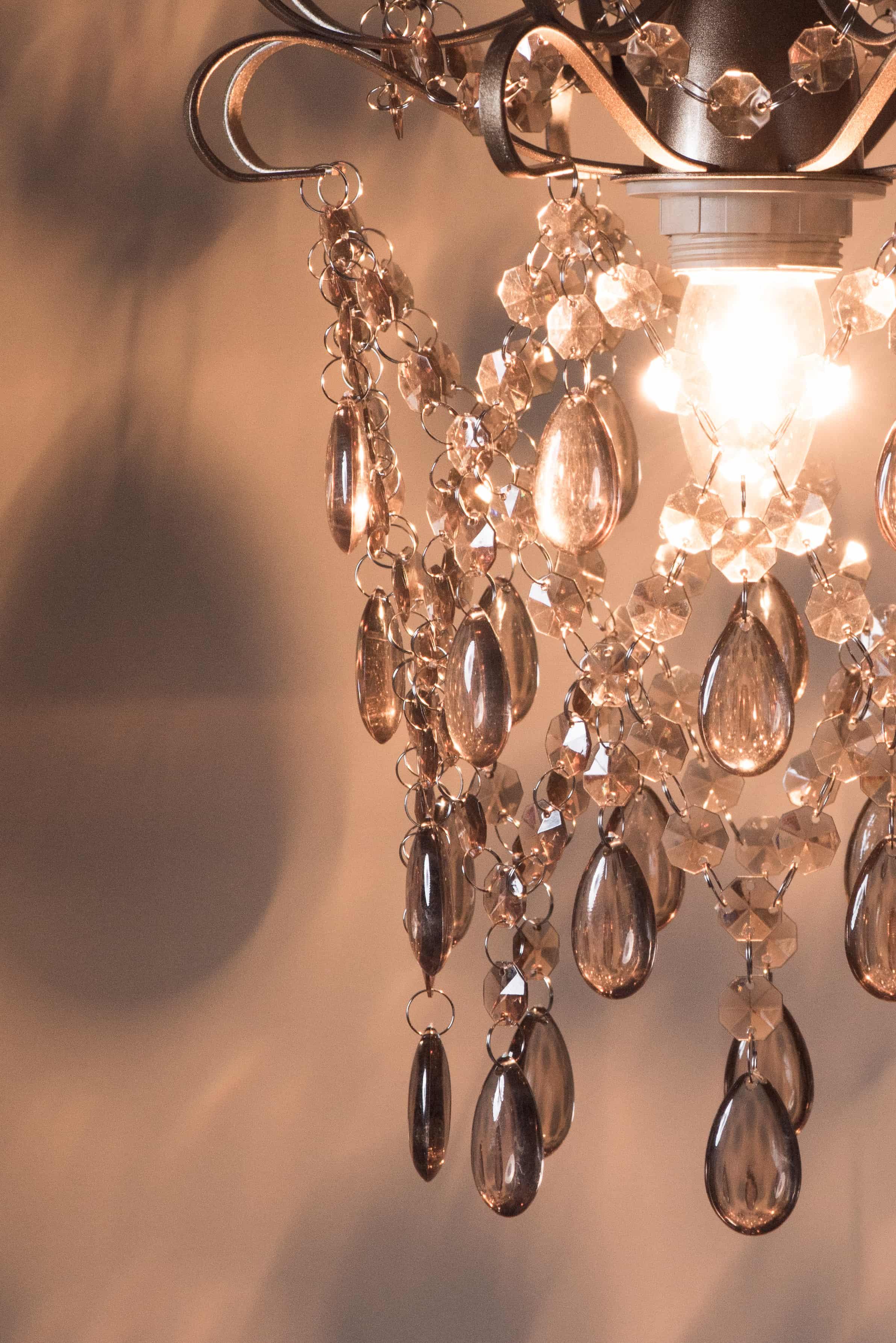 玫瑰金扁鐵框壓克力珠吊燈-BNL00049 4