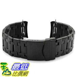[106美國直購] 錶帶 Black Stainless Steel Band for Luminox Navy Seal 3000/3900 Watches