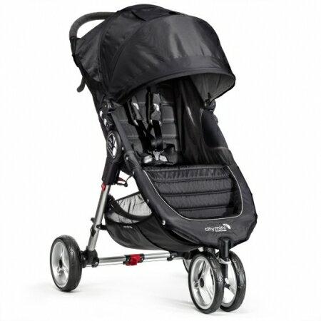 【淘氣寶寶】Baby Jogger City Mini 單人手推車《世界專利的Fold 單手秒收》(黑)
