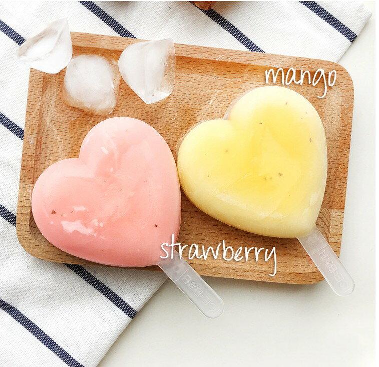 愛心造型矽膠冰棒模 浪漫心形製冰模000220