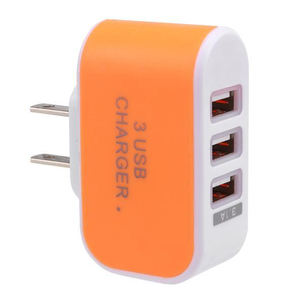3-Port USB Wall Home Travel AC Charger Adapter for Phone 5