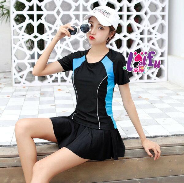 來福泳衣,G276泳衣健康保守褲裙二件式泳衣游泳衣泳裝正品,售價950元