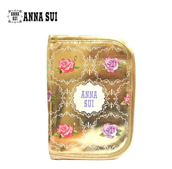 ANNA SUI 安娜蘇 金色玫瑰護照夾 / 萬用包 《Umeme》