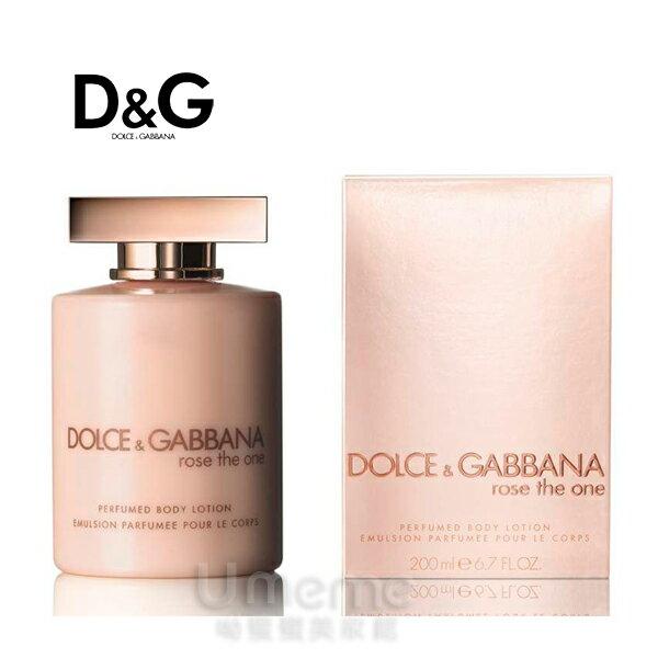 D&G Rose The One 唯戀玫瑰 女性香水身體乳200ml 《Umeme》