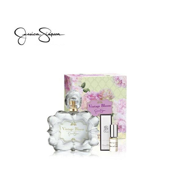 Jessica Simpson潔西卡‧辛普森 Vintage Bloom懷舊綻放淡香精 30ml 再送[ 攜帶式] 香精3ml