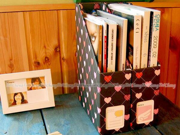 日本MAKINOU 文件夾|韓版DIY愛心格紋桌面文件收納盒|日本牧野 整理盒紙盒日韓文具收納箱 MAKINO
