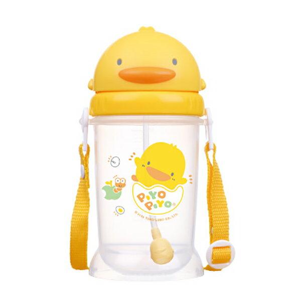 黃色小鴨自動吸管PP滑蓋練習杯350ml【德芳保健藥妝】