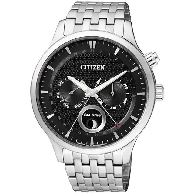 CITIZEN 星辰 AP1050-56E Eco-Drive 光動能極速光環時尚優質腕錶 黑 43mm