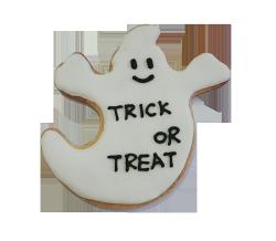 【裸餅乾Naked Cookies】萬聖節 不給糖就搗蛋 幽靈6入-創意手工糖霜餅乾,婚禮/生日/活動/收涎/彌月