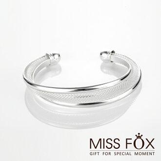 【限時5折】鍍925純銀手環 時尚網絡 強烈個性手環 JJ1089
