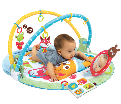 【淘氣寶寶】以色列 Yookidoo 探索系列-小熊好朋友睡袋健力遊戲墊