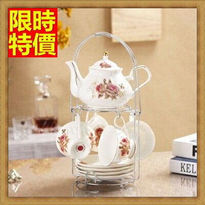 下午茶茶具 含茶壺+咖啡杯組合-4人簡約英式下午茶骨瓷茶具4色69g24【獨家進口】【米蘭精品】