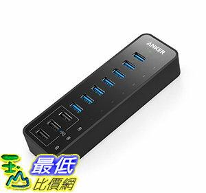 [106美國直購] Anker 10-Port 60W USB 3.0 Hub 7 Data Transfer Ports and 3 PowerIQ Charging Ports 集線器/充電器