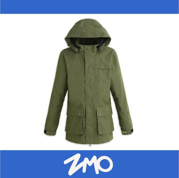 萬特戶外運動 ZMO JG361-BG 男防風雨風衣外套-長版大衣 防水 防風 軍綠色