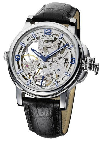 epos 愛寶時 3429.195.20.58.25FB 巴賽爾藝術系列三次元限量鏤空機械腕錶/白面45mm