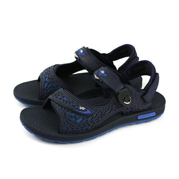 GP (Gold.Pigon) 阿亮代言 涼鞋 防水 雨天 深藍色 男鞋 G8660M-20 no843
