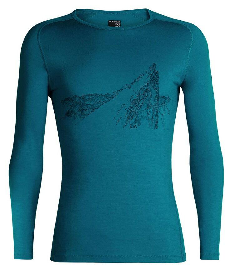 Icebreaker 羊毛衣/圓領長袖排汗衣/美麗諾羊毛/旅遊/登山/滑雪 Oasis BF200 男款 104366 401 美耶峰 深靛藍
