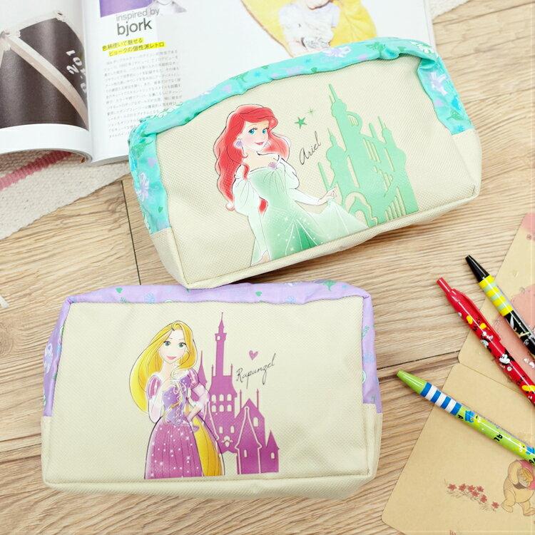 PGS7 迪士尼系列商品 - 迪士尼 公主 筆袋 化妝包 收納包 愛麗兒 小美人魚 樂佩 長髮公主【SIK7146】