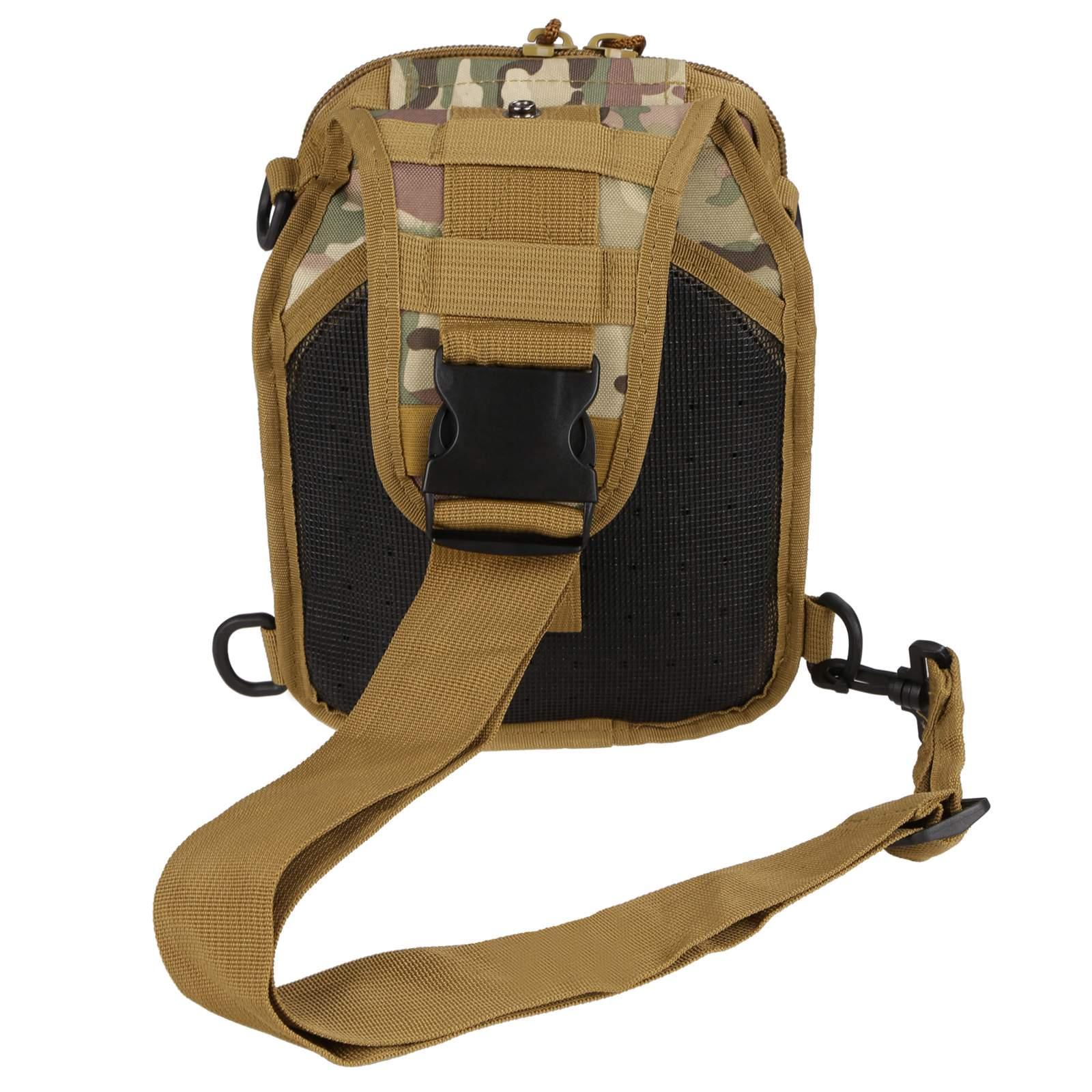 Canvas Multifunction Outdoor Casual Chest Pack Shoulder Bag 5