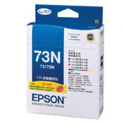 EPSON C13T105550 73N 墨水匣量販包 (黑/藍/紅/黃)【三井3C】