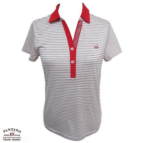 【FANTINO】女裝 夏日清新感80支雙絲光棉polo衫 (粉綠、紅) 571101-571102 5