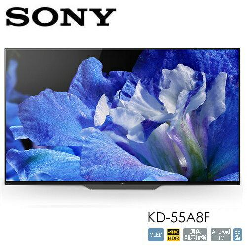 【買就送好禮】日本原裝SONYKD-55A8F55型4KHDRX1進階版OLE極致真影像處理器高畫質數位液晶電視公司貨免運費12期0%