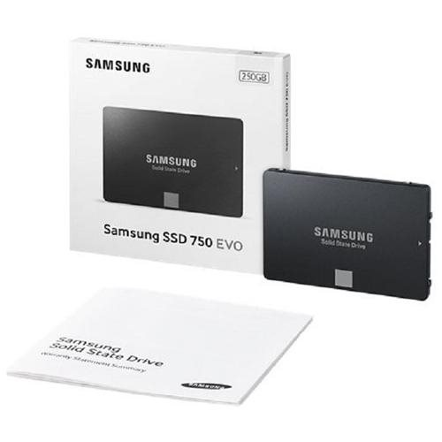 "Samsung 750 EVO 250GB 2.5"" 250G SATA III Internal SSD 3-D 3D SSD MZ-750250BW with OEM SSD cable 2"