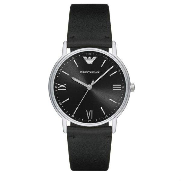 EMPORIOARMANI亞曼尼AR11013簡約大尺碼時尚腕錶白面43mm