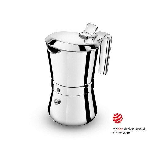 【沐湛咖啡】義大利製造原裝進口 Giannini 新款吉尼快拆 不銹鋼 摩卡壺 3人壺/6人壺