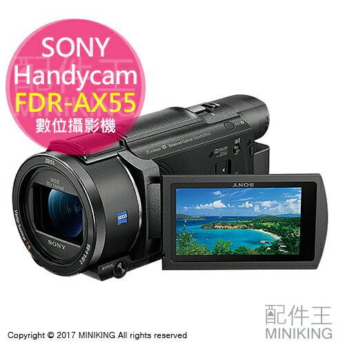 【配件王】日本代購 SONY 索尼 Handycam FDR-AX55 4K 數位攝影機 64GB 勝 FDR-AX40