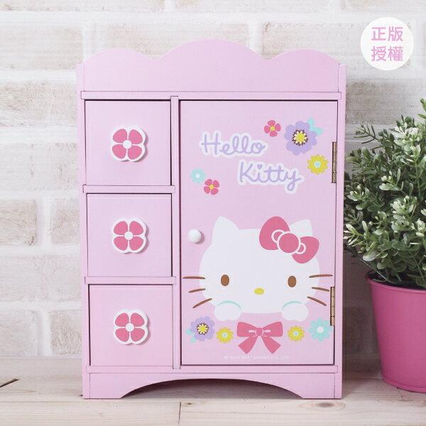 HELLO KITTY 繽紛系列-飾品收納盒 置物櫃 小物收納 文具收納 製 三麗鷗 Sanrio[蕾寶]