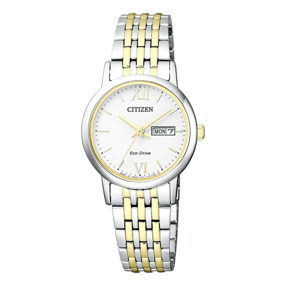 CITIZEN星辰(EW3254-87A)經典光動能女錶 27.5mm熱銷款