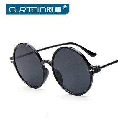 50%OFF【J014219GLS】2016新款時尚圓框米釘太陽鏡潮流明星款墨鏡炫彩反光太陽眼鏡附眼鏡盒