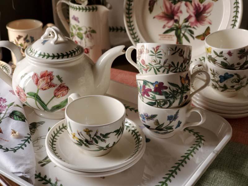 【雙人下午茶組】英Botanic Garden經典植物園系列-兩杯一壺組加贈托盤