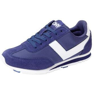 [陽光樂活] PONY SOHO EASY MOVE (女) 類阿甘鞋 復古休閒慢跑鞋 61W1SO72DB 深藍(5折出清)